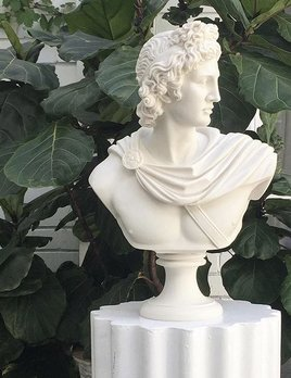 Apollo Alabaster Bust - Mercer and Lewis approx H56cm - Greece