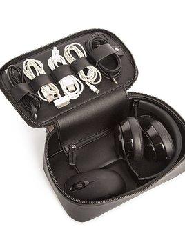 Brouk Tech Dop Kit - Black Vegan Leather Travel Case