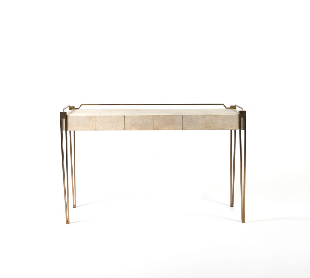R&Y Augousti R&Y Augousti - Contemporary Desk - Antique Natural Shagreen, 124 x 60 x 75 cm