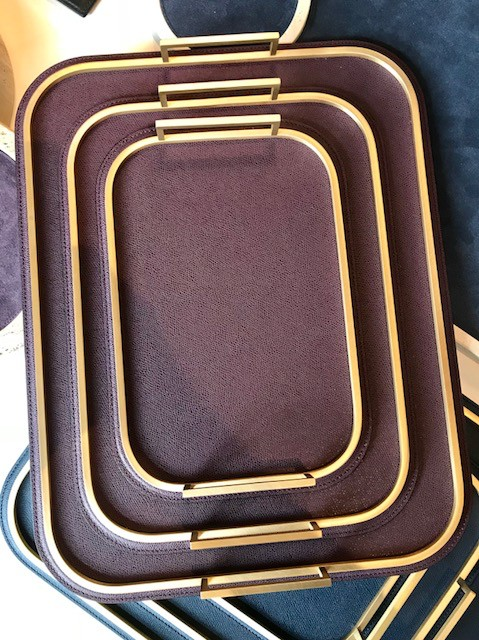 giobagnara Small Bellini Tray - Burgundy - 31.5x21.5cm - Giobagnara for Becker Minty - Made in Italy