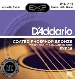 D'Addario D'Addario EXP Coated Phosphor Bronze Acoustic Guitar Strings 11-52