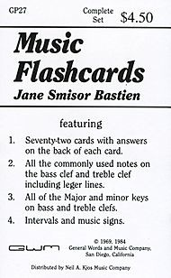 Bastien Music Flashcards