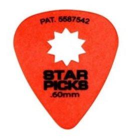 Star Picks .60mm Orange 12pk Picks