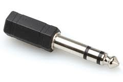 Hosa Adaptor, 3.5 mm TRS to 1/4 in TRS