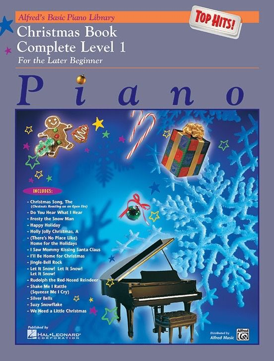 Alfred's Basic Piano Library: Top Hits! Christmas Book Complete 1