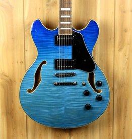 Ibanez Ibanez AS Artcore 6str Electric Guitar  - Azure Blue Gradation