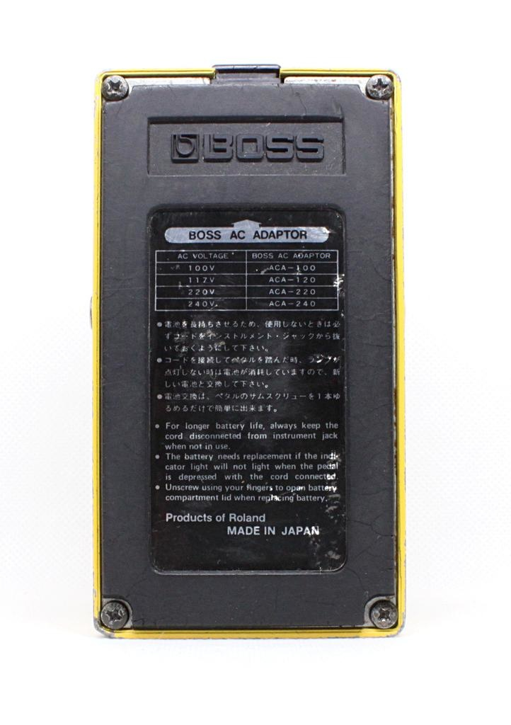 Boss Used Boss OD-1 Japan 1988 JRC4558DD Chip