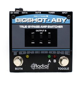 Radial Engineering BigShot ABY switcher w/LEDs, true-bypass, transformer isolation & tuner out