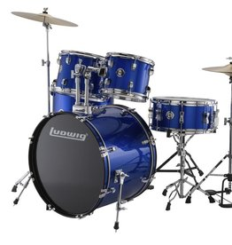 Ludwig Ludwig Accent Drive 5 Piece Drum Set — Blue Foil