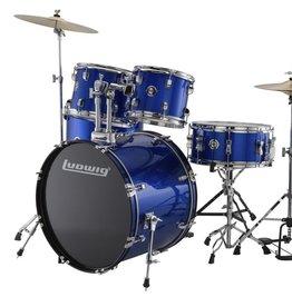 Ludwig Ludwig Accent Drive 5 Piece Drum Set — Blue Foil