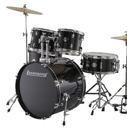 Ludwig Ludwig Accent Drive 5 Piece Drum Set — Black Cortex