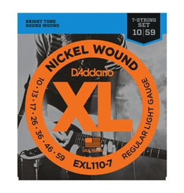 D'Addario D'Addario 7-String Regular Light Electric Strings .010-.059