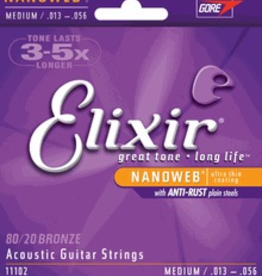 Elixir Elixir Nanoweb Medium 13-56 Acoustic Strings
