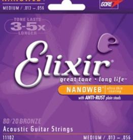 Elixir Elixir Nanoweb Medium 13-56 Acoustic Strings
