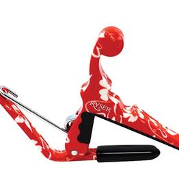 Kyser Kyser Quick-Change Ukulele Capo, Red Hibiscus