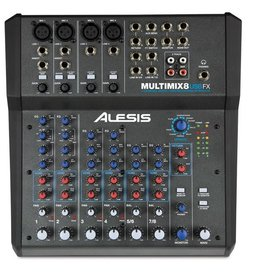 Alesis Alesis MultiMix 8 USB FX 8-Channel USB Desktop Mixer