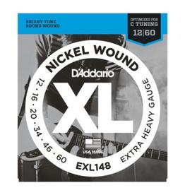 D'Addario D'Addario EXL148 Nickel Wound Electric Guitar Strings, Extra-Heavy, 12-60