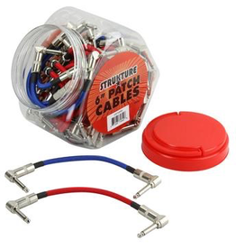 """Strukture 6"""" Patch Cable - Red/Blue Woven"""