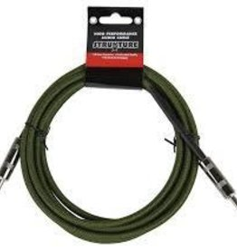 Strukture 18.6' Military Green Woven Guitar Cable
