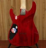 LTD LTD H-101 FM Electric Guitar in See Thru Red