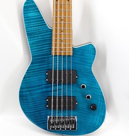 Reverend Reverend Mercalli 5 FM Bass in Turquoise FM - Roasted Maple Fretboard