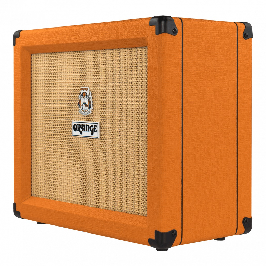 "Orange Crush 35 Watt, 4 Stage Pre, Reverb & Tuner, Channel Switching, FX loop, CabSim HP Out, Aux in,10"" Spkr"