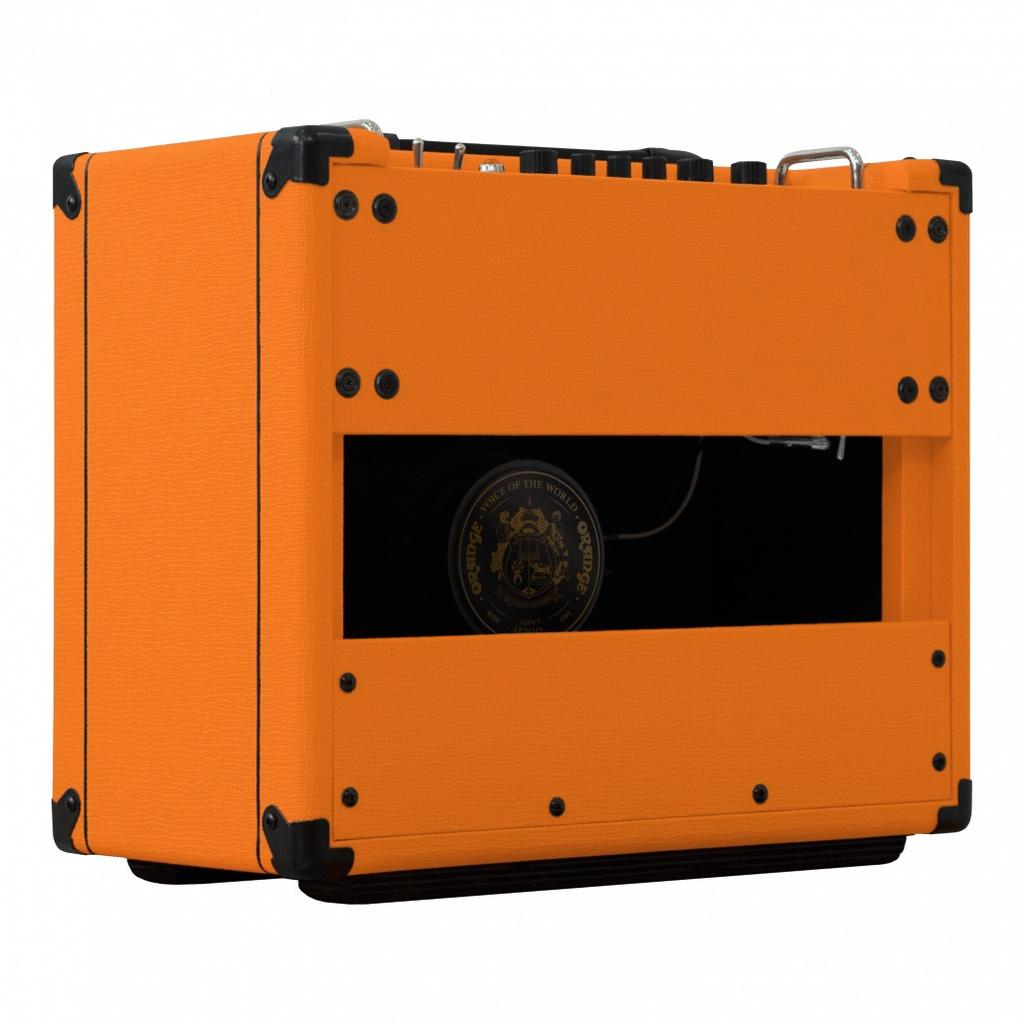 "Orange Orange 15/7/1/.05 watt combo, 1X10"" VOTW gold label spkr, natural/dirty channel, FX loop"