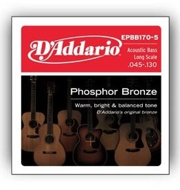 D'Addario D'Addario 5-String Acoustic Bass Long Scale Strings .045-.130