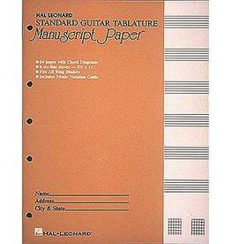 Hal Leonard Hal Leonard Standard Guitar Tablature Manuscript Paper