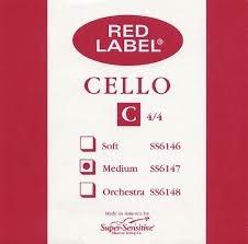 Super Sensitive Red Label Cello C 4/4 MD Single String