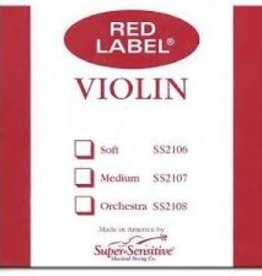 Super Sensitive Red Label Violin D String 4/4