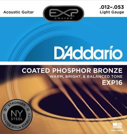 D'Addario D'Addario EXP Coated Phosphor Bronze Acoustic Guitar Strings 12-53