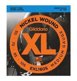 D'Addario D'Addario Short Scale Bass Strings Medium Nickel Wound<br />.050-.105