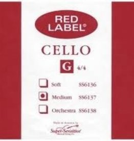 Super Sensitive Red Label Cello G String 4/4 MD