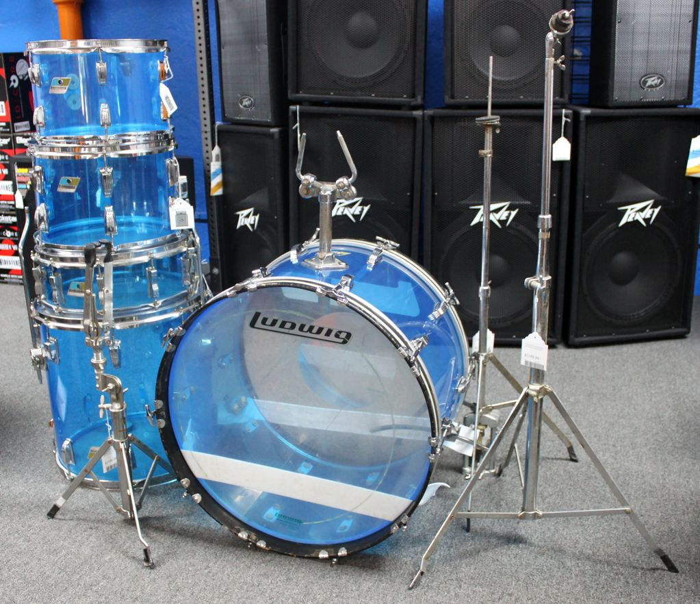 Ludwig Vintage 70's Ludwig Vistalite Shell Pack w/some hardware