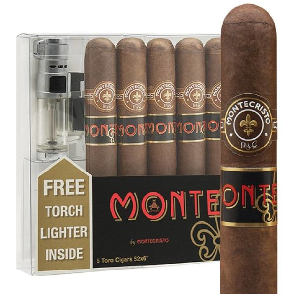 Monte Cristo MonteCristo Monte by Monte Toro 5Pak with Torch Lighter