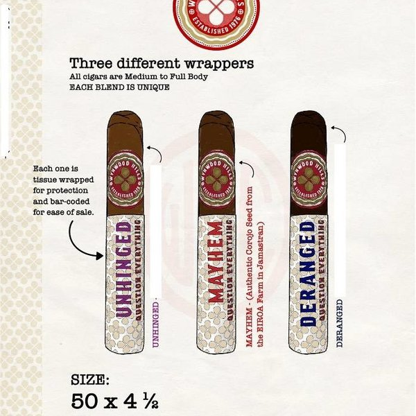 Asylum 13 Wynwood Hills Mayhem- Corojo Robusto Bundle of 25