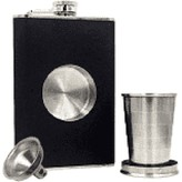 Diesel Diesel Whiskey Row Flask with Removable Shot Glass