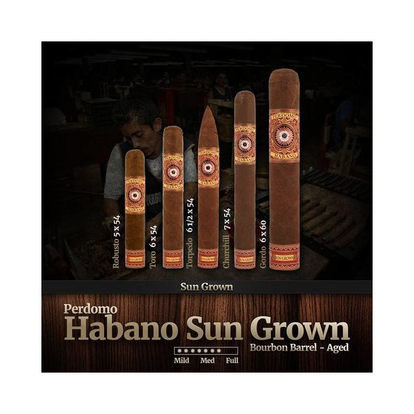 Perdomo Perdomo Habano Bourbon Barrel-Aged Sungrown Gordo