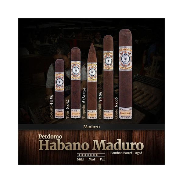 Perdomo Perdomo Habano Bourbon Barrel-Aged Maduro Robusto