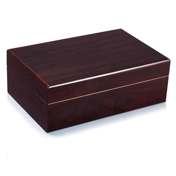 10 Cigar Wooden Travel Humidor- Cedar Lined