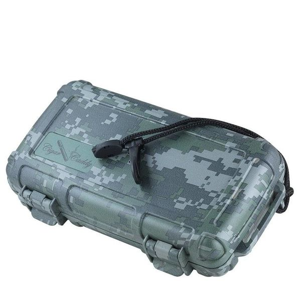 Cigar Caddy Cigar Caddy 5 Stick Camouflage Travel Humidor