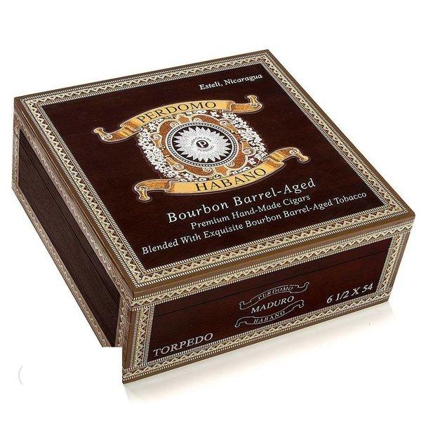 Perdomo Perdomo Habano Bourbon Barrel-Aged Maduro Gordo Box of 24