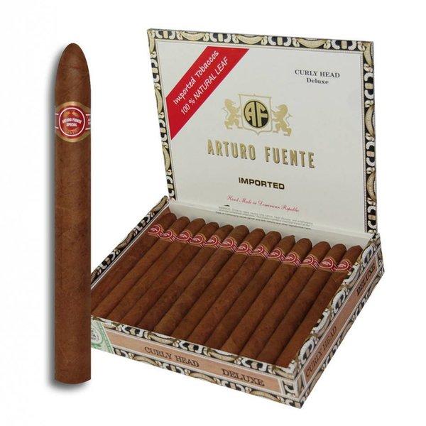 JC Newman/ Fuente Arturo Fuente Curly Head Deluxe Natural Box of 25