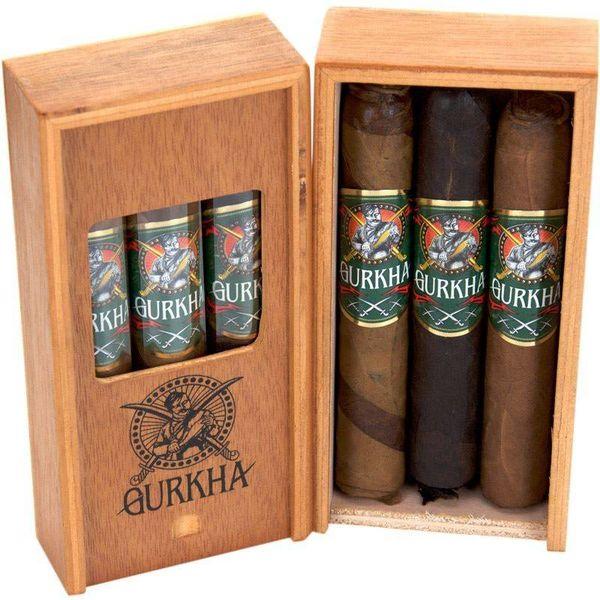Gurkha Cigar Group, Inc Gurkha Trinty Robusto 3 Pack Sampler in Cigar Coffin