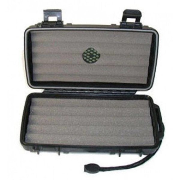 Cigar Caddy Cigar Caddy 5 Stick Black Travel Humidor