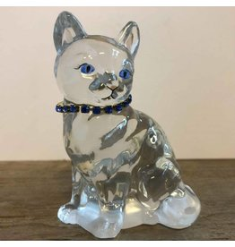 Glass Fenton cat figurine