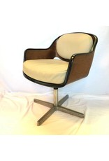 Chair - mid-century lounge chair, molded plywood, recently re-upholstered