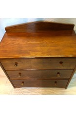 Dresser - three drawer pine dresser, refinished, deep drawers
