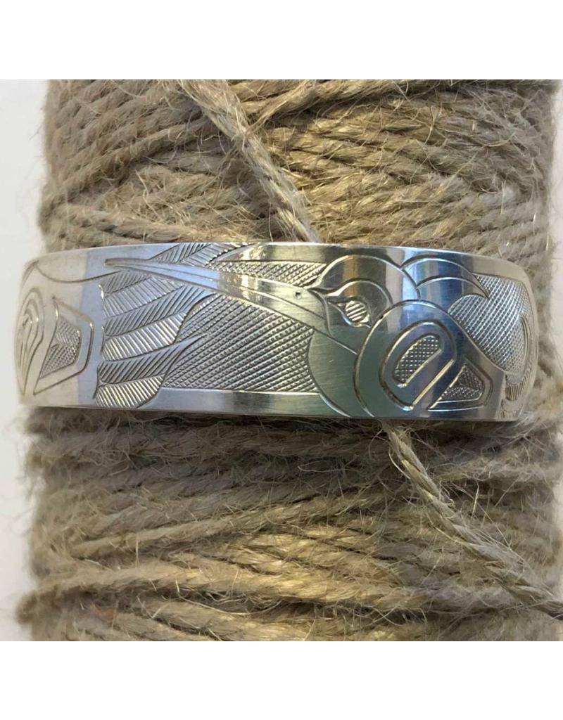 Bracelet - silver, hummingbird by Sandi McKay